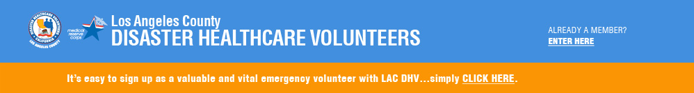 Los Angeles County Disster Healthcare Volunteers